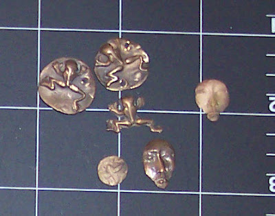 fired bronze PMC pieces