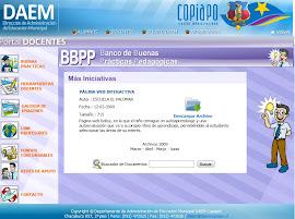 Mi proyecto incorporado al Banco de Buenas Prácticas Pedagógicas,  iniciativa del DAEM Copiapó