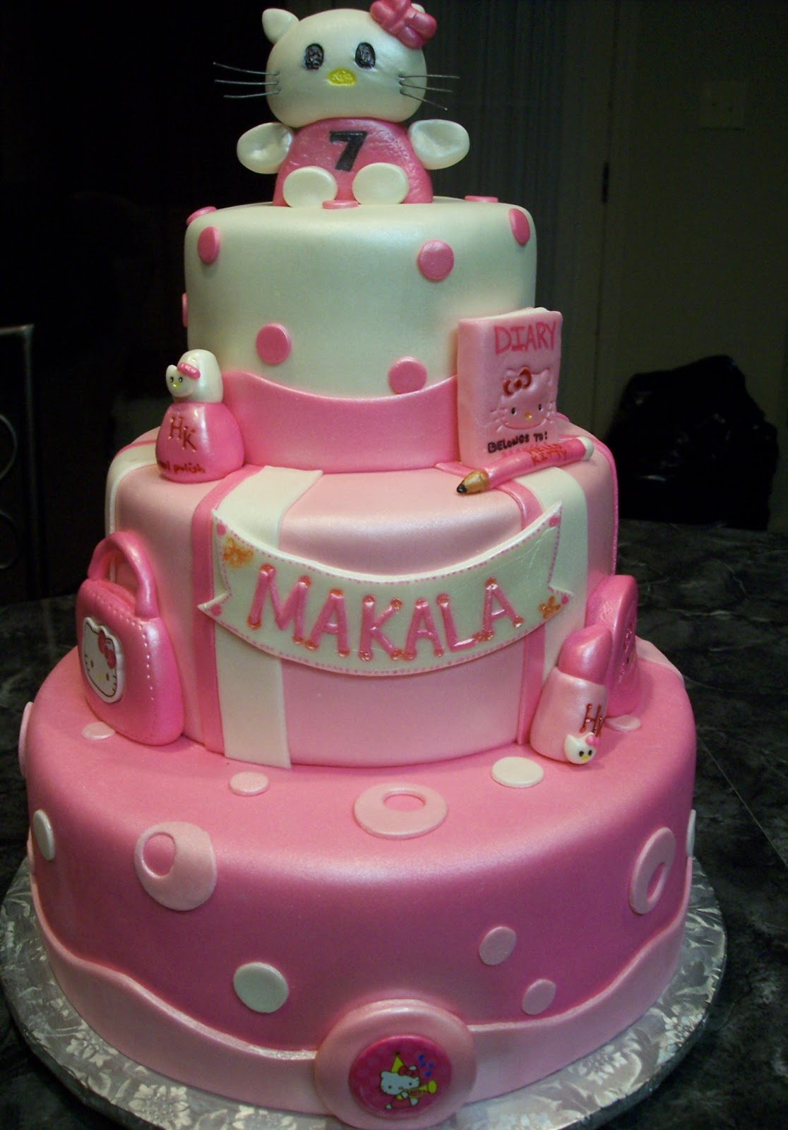 Images Of A Hello Kitty Cake : MyMoniCakes: Hello Kitty Cake with Gum Paste Topper and ...