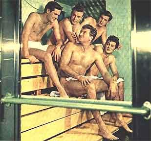 Hugh O'Brien, Scott Brady, John Bromfield, Rock Hudson y Tony Curtis