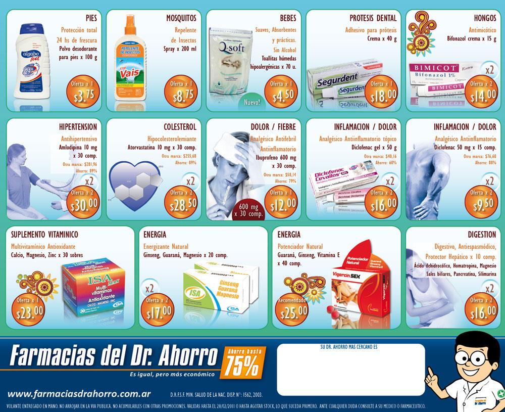 javicastillopaz: flyer . farmacias del dr. ahorro