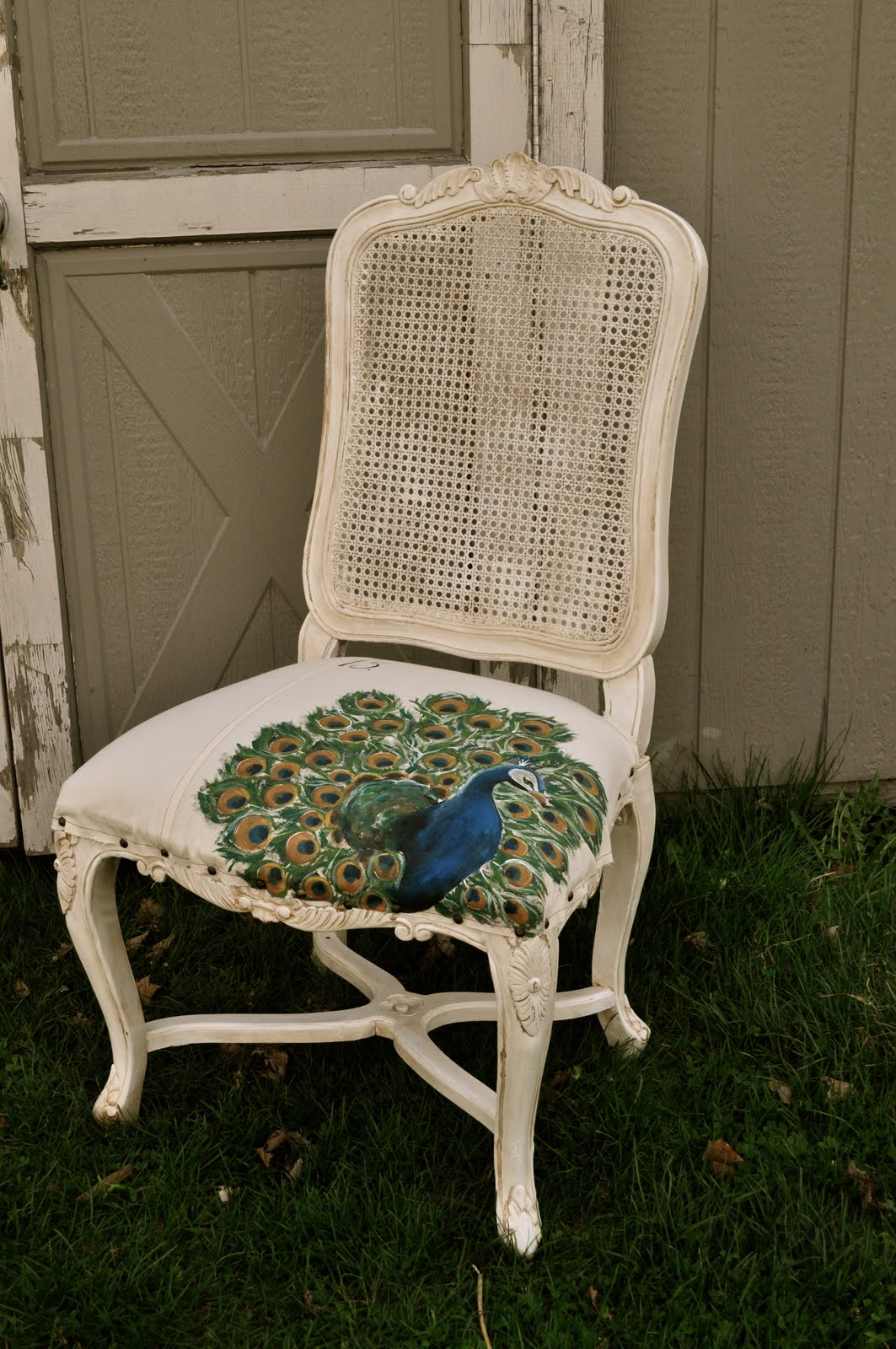 Hand Painted Peacock Chair U2026The Basics For Painting Your Own Upholsteryu2026