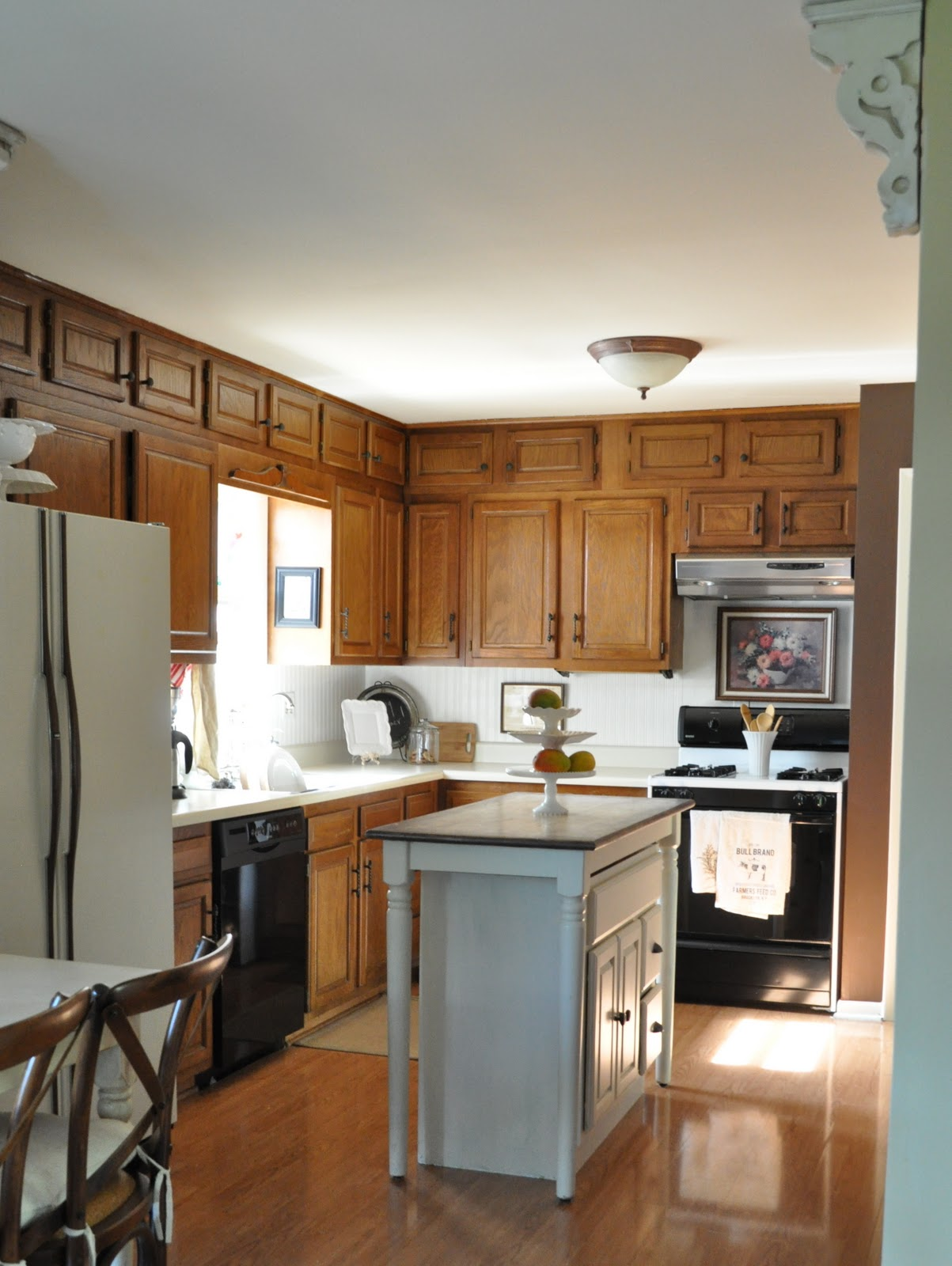 Beautiful Painting Oak Cabinets Nice Look