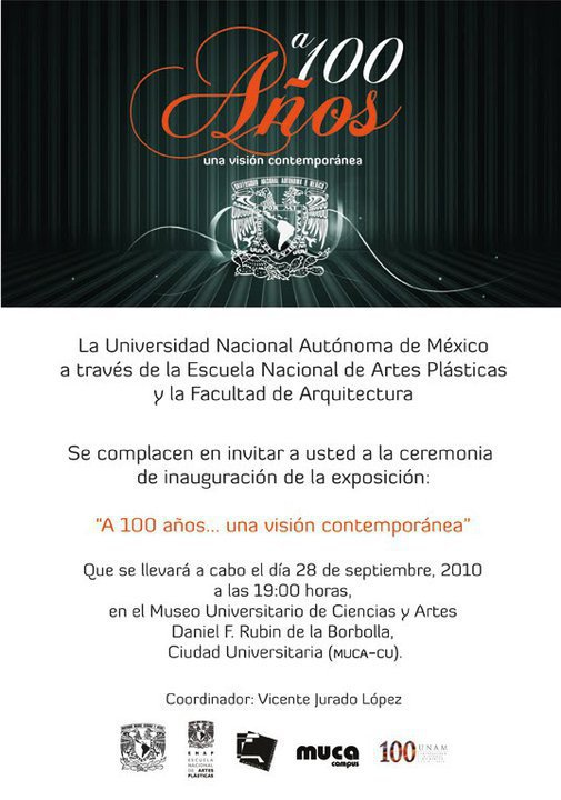 expo por los 100 años de la UNAM