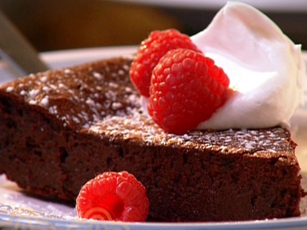Strawberry Flourless Chocolate Cake