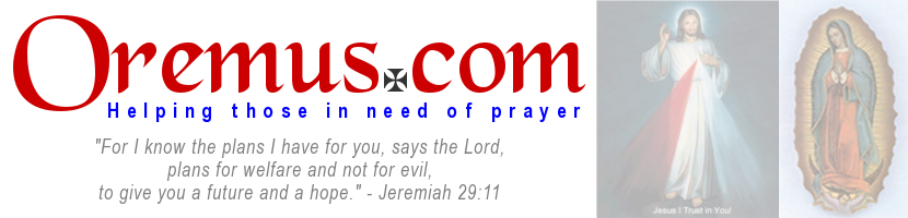 Oremus.com - Helping those in need of prayer