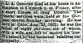 Alanson Osborn - Obituary