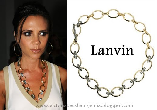 Victoria Beckham Jewelry. Victoria Beckham arrives at the Burberry Prorsum