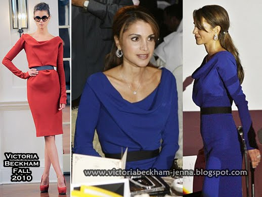queen rania birthday party 2010. Celebrities in VB: Queen Rania of Jordan in a Modified Victoria Beckham Fall