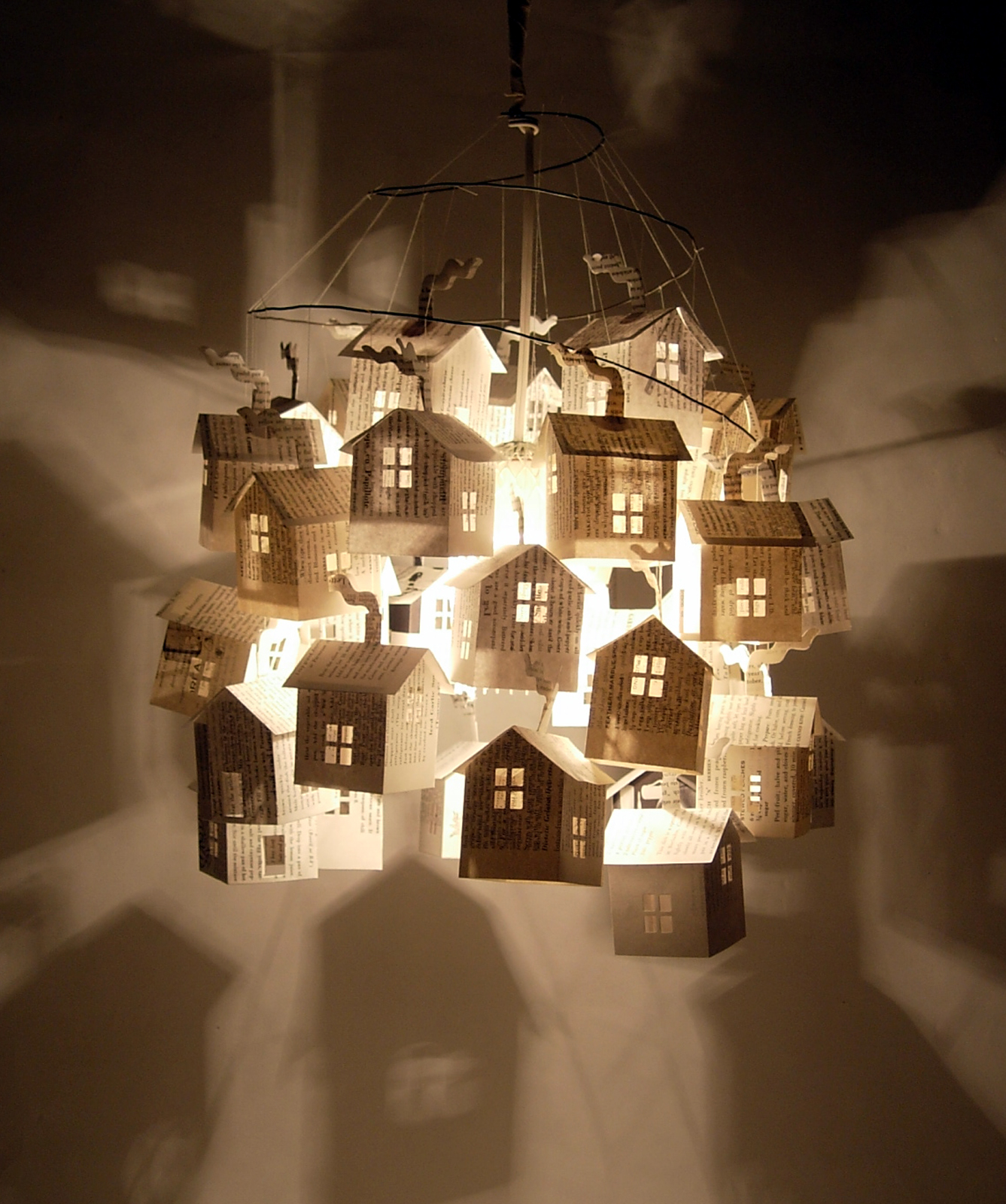 I had to add the very latest addition to the light of hutch. Hung it just this morning in fact. It is a pendant style light comprised of 33 paper houses ... : paper light pendant - azcodes.com