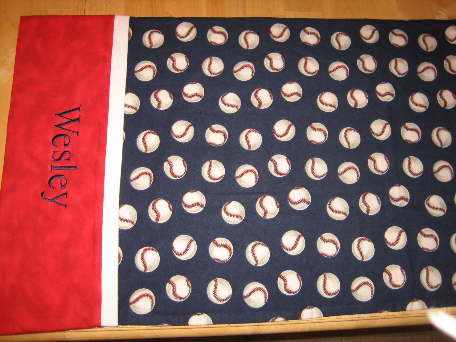 Baseball Pillowcase