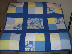 Baby Quilt - Fleece Stars & Moon