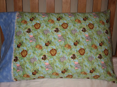 Zoo Animals Fleece Pillowcase