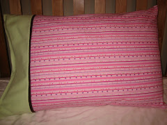 Fuschia Print Flannel Pillowcase