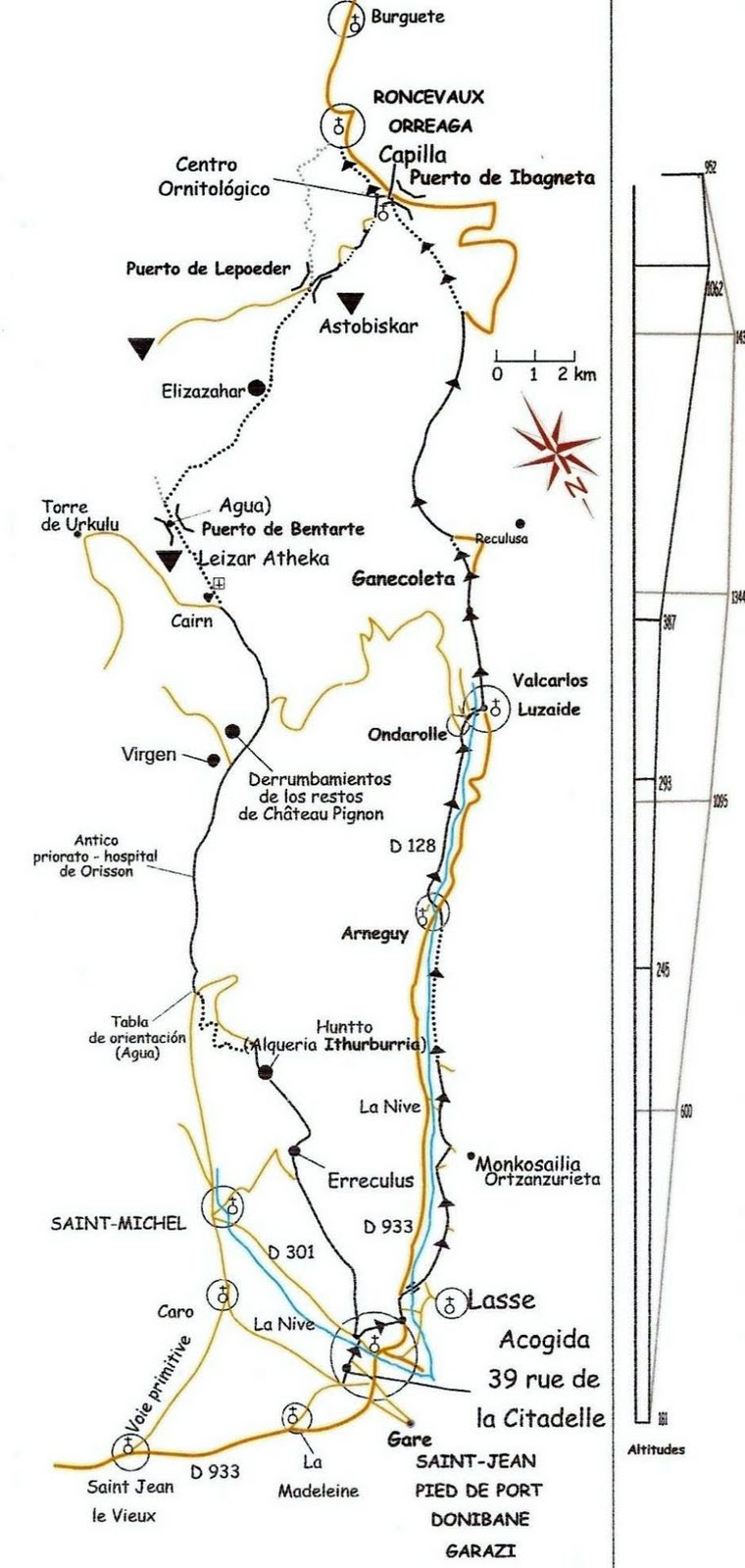 Comentarios de un peregrino via de piamonte lourdes a roncesvalles 173 km - St jean pied de port to roncesvalles ...