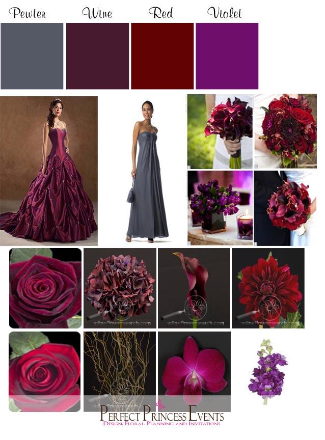 Wine Colors Wedding Fall Colors Palettes Colors Schemes Fall Weddings Dark Purple Wedding