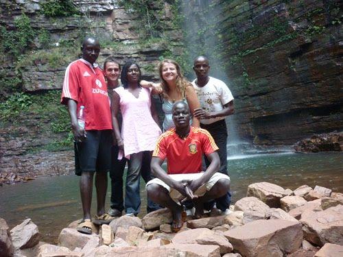 En la cascada de Dindefelo.