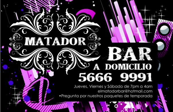 el matador bar a domicilio