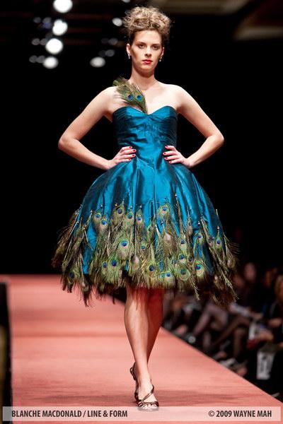 Peacock Inspired Wedding Dress