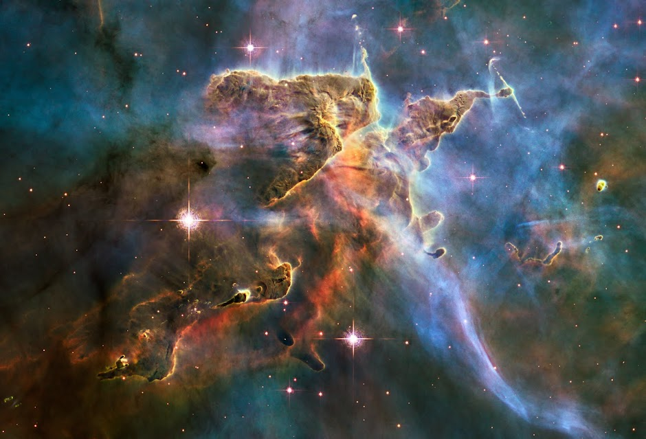 Hubble's Landscape image of the Carina Nebula