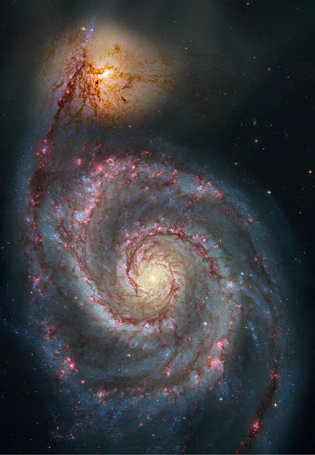 The Spiral Galaxy M51 and its galactic companion NGC 5195