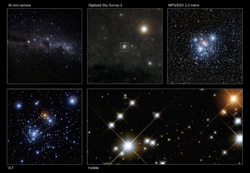Composite Image of NGC4755, Kappa Crucis Cluster or Jewel Box