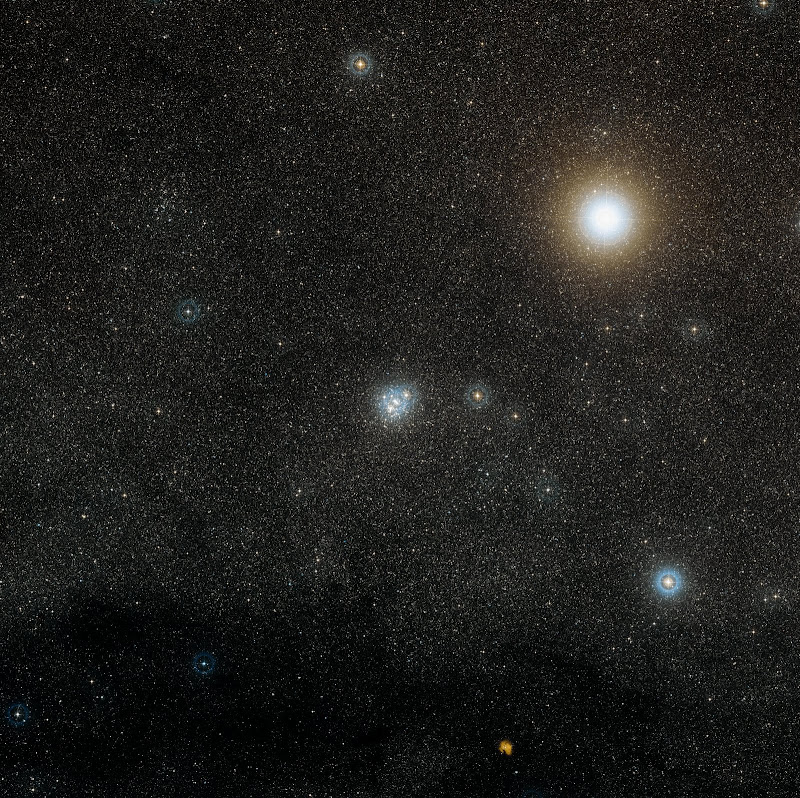 Wide-Field image of the region around NGC 4755