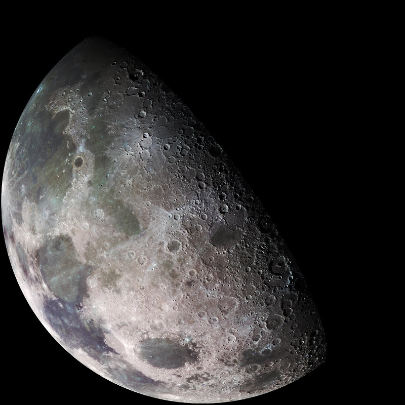 Color mosaic of the moon.
