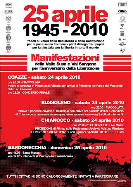 25 aprile 1945 – 25 aprile 2010 – 65 Anni Resistenti!!!
