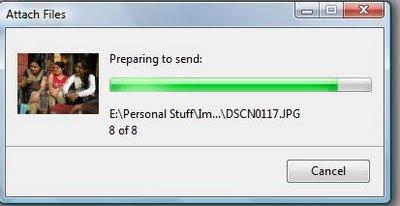 attaching to e-mail dialog