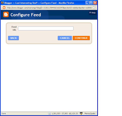 Configure feed for Blogger