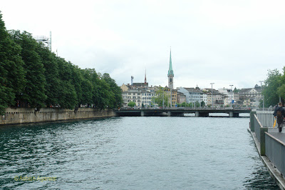 View of the Limmat river along with surrounding architecture