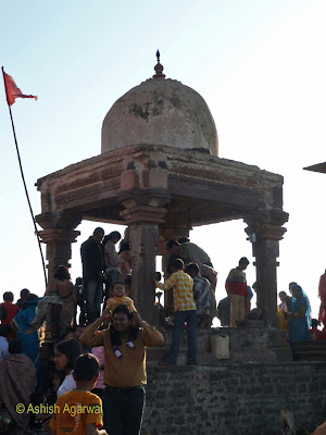 Offering prayers at the Lord Shiva site in Bhojpur, Madhya Pradesh, India