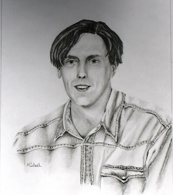 "arnold. ""Eric Arnold"" is an original, signed graphite work by artist Michael Arnold. Eric is my youngest brother."