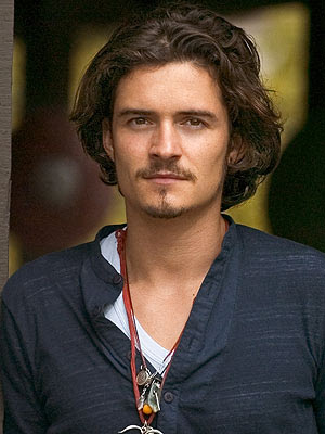 orlando bloom long hair. orlando bloom face