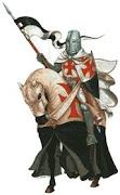 Un cavaliere. Torneo di abilità