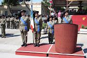 Onori alla Bandiera di guerra del 7^ Rgt. Bersaglieri.