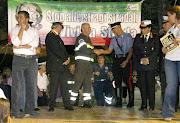 Cerimonia contro gli incidenti stradali dei Vigili del Fuoco di Bari