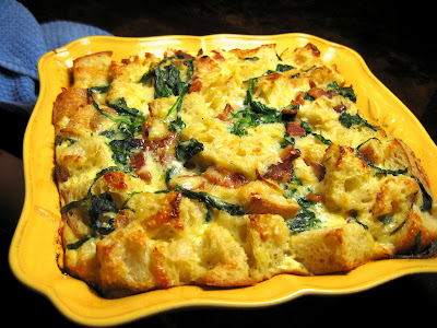 Arugula, Bacon, and Gruyre Bread Pudding