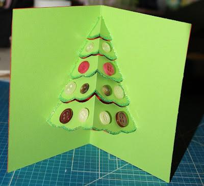Scrapflower tutorial tarjeta pop up navidad - Como hacer una tarjeta de navidad original ...