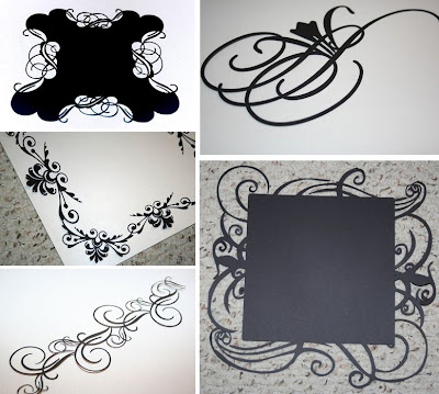 die cut lace papers from Nicole Lombardo