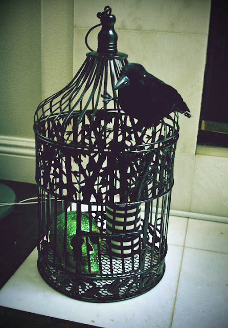 This birdcage was used as a cardholder from our wedding