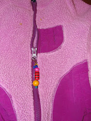 Beaded zipper pull