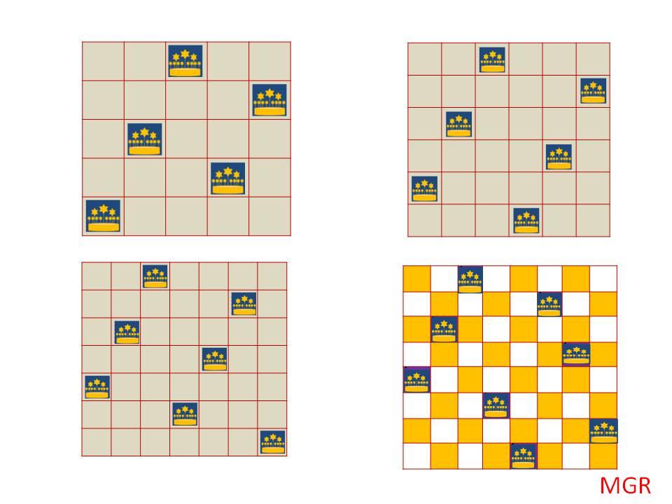 Juego de las 8 reinas. Game of the 8 queens. | El mundo y yo
