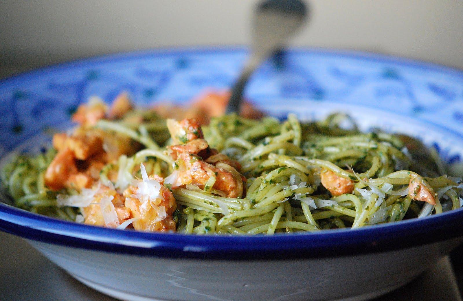 Pesto Pasta with Tandoori Chicken   Mehan's Kitchen