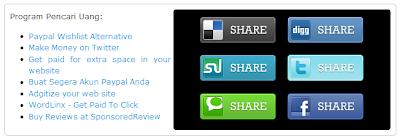Cara Menambah Social Bookmark Widget pada Blog