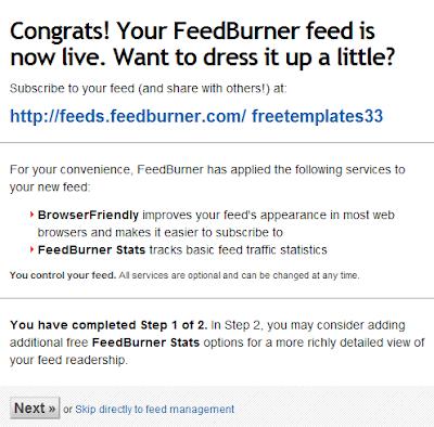 cara pasang kotak form berlangganan Feedburner dengan mudah