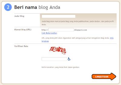 Beri Nama Blog Anda