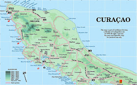 Mapa de Curazao