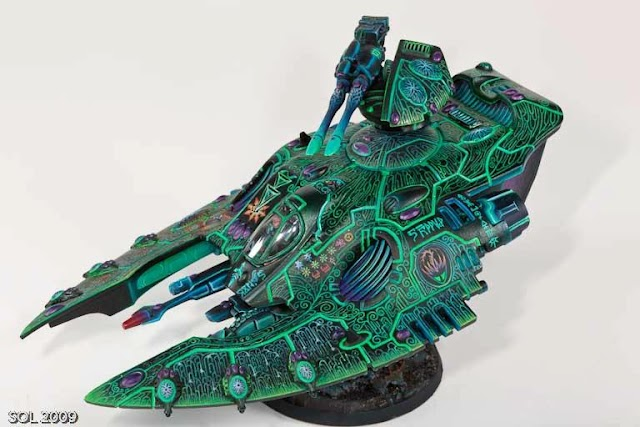 Knowing your opposition pt5. Eldar Wave Serpents and Falcons.